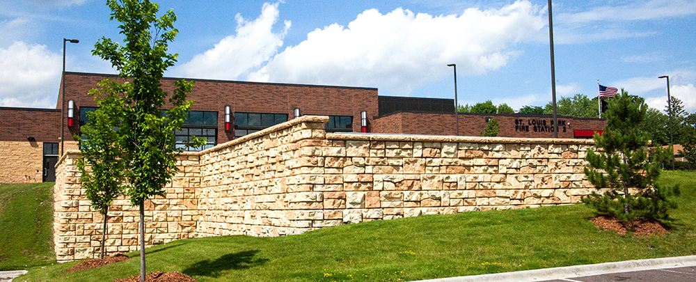 St. Louis Park Fire Station Retaining Wall