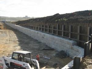 Hardscape construction site