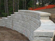 unfinished retaining wall