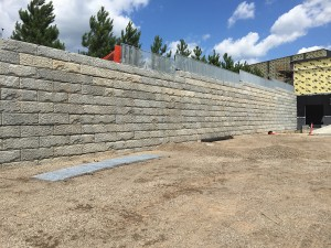 Anytime Fitness Woodbury Retaining wall